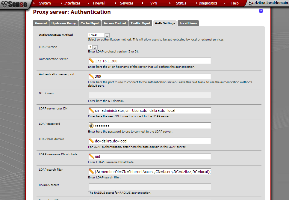 How to Setting Squid on PFSense with Authentiaction LDAP Windows